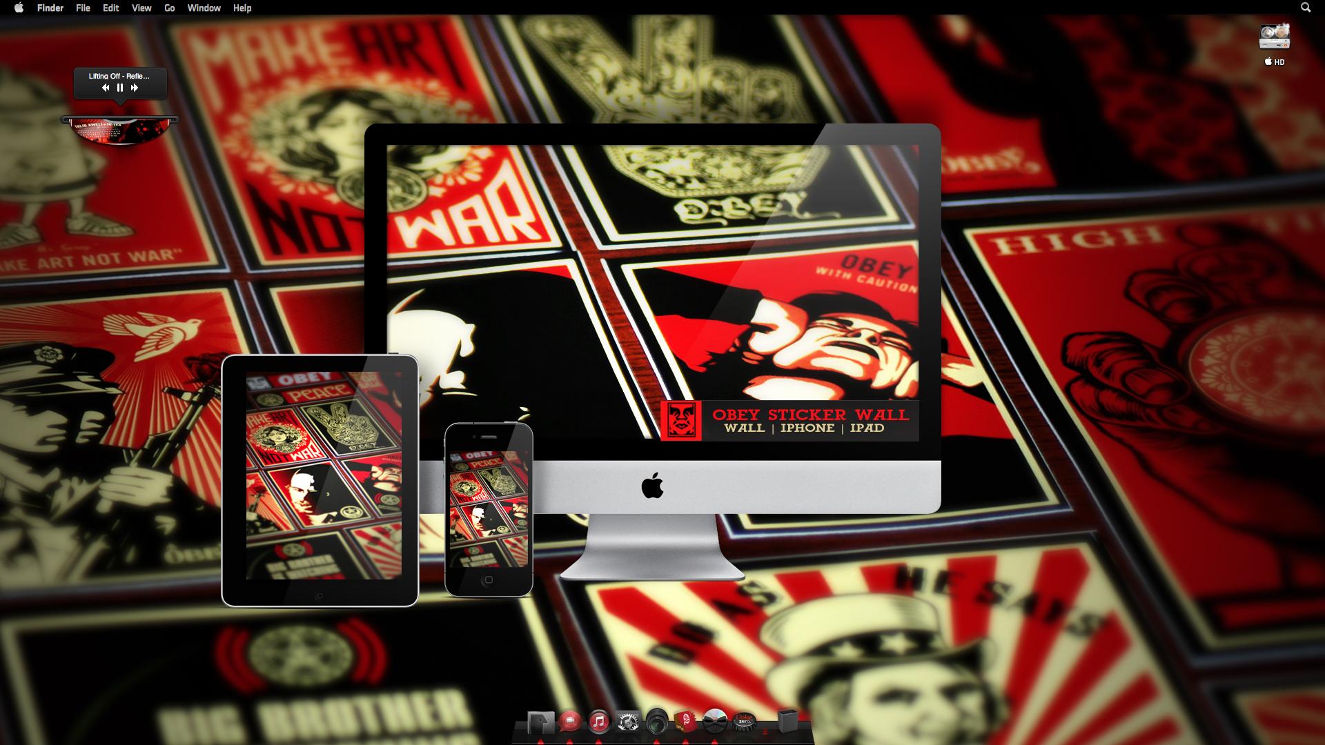 Obey Iphone Wallpaper Obey sticker w 1920x1080