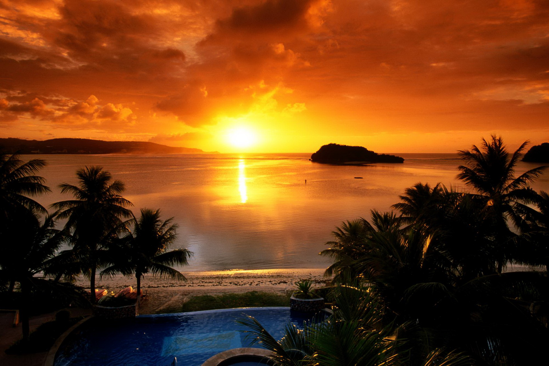 Natural Sunset at Lake Desktop Backgrounds 1920x1280