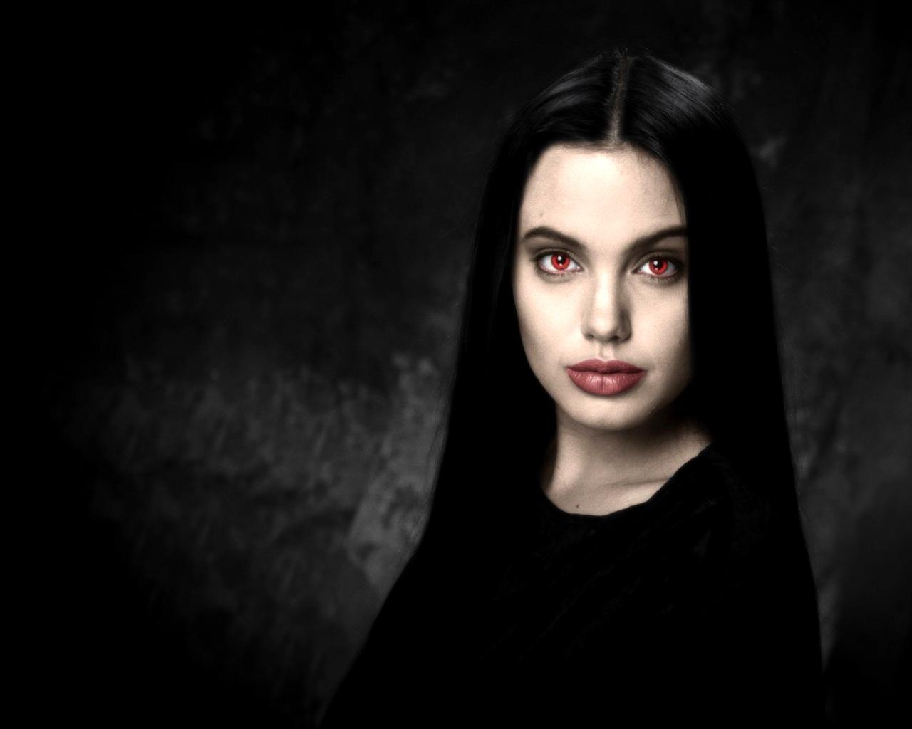 girl on dark wallpaper - photo #5