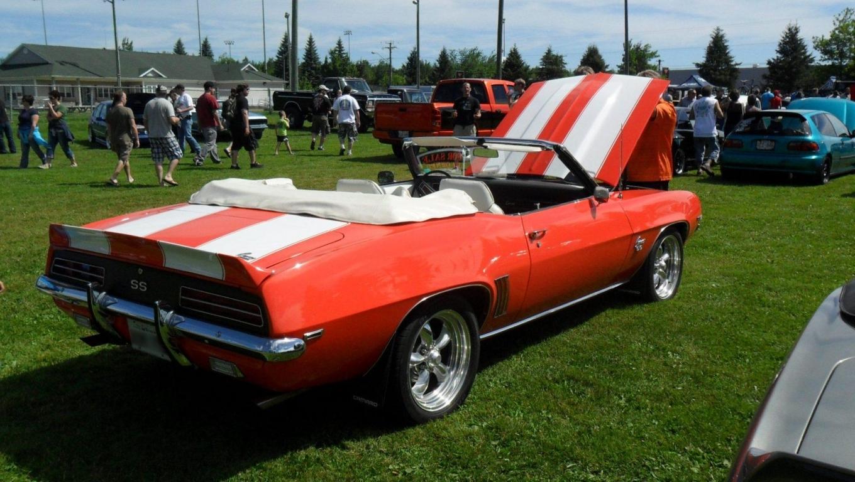 Red 1969 Chevrolet Camaro Ss 396 Convertible Hd Wallpaper Wallpaper 1360x768