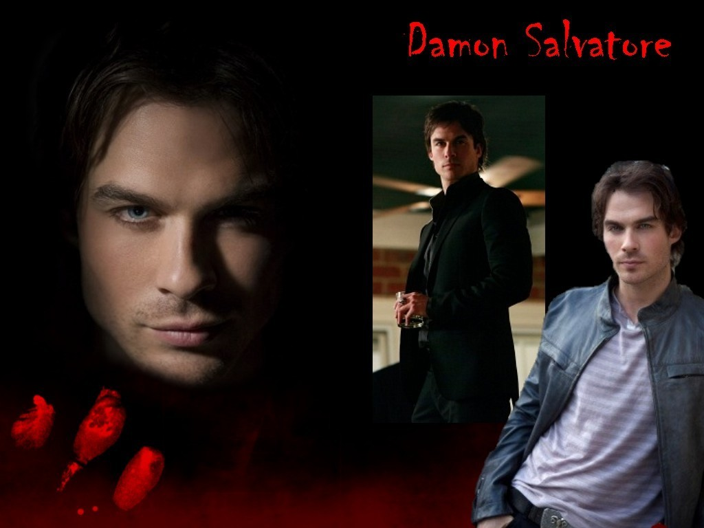 Damon Salvatore   The Vampire Diaries Wallpaper 8841339 1024x768