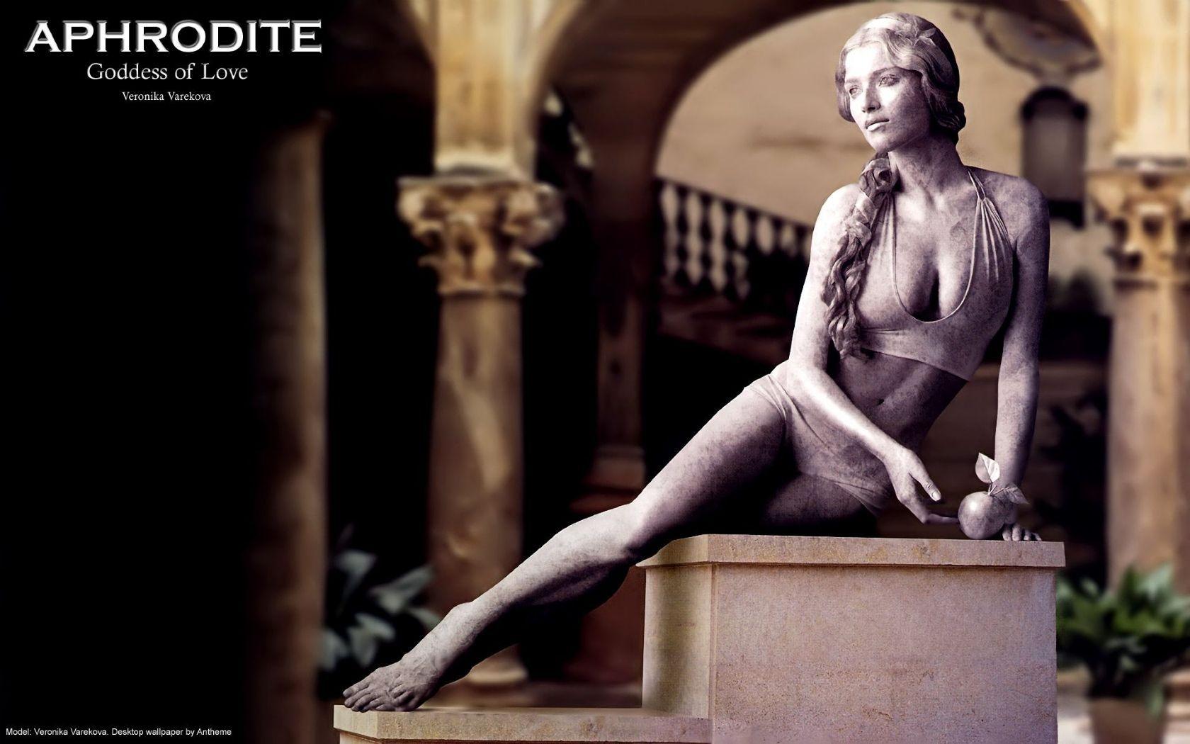 Aphrodite Goddess of Love Computer Wallpapers Desktop Backgrounds 1680x1050