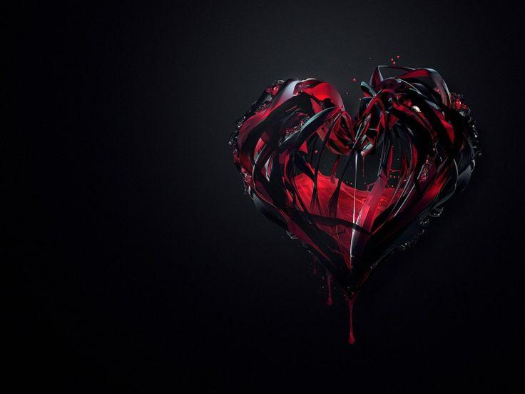 Maller Wallpapers Bleeding Heart Broken Heart Black Darkheart 736x552