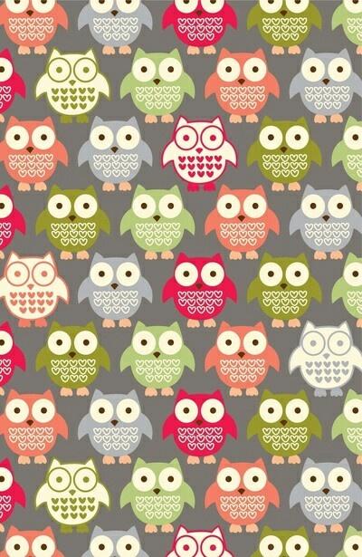 cute owls wallpaper Wallpaper Pattern Pinterest 400x615