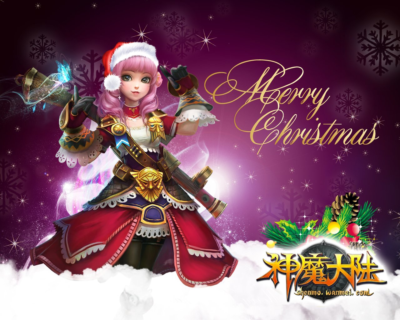 Anime christmas wallpaper hd wallpapersafari - Anime merry christmas wallpaper ...
