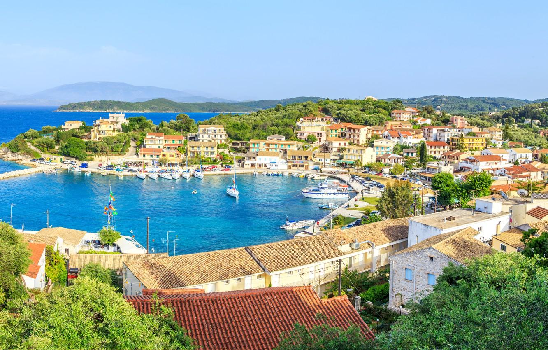 Wallpaper sea sea Greece greece corfu Corfu avlaki images 1332x850