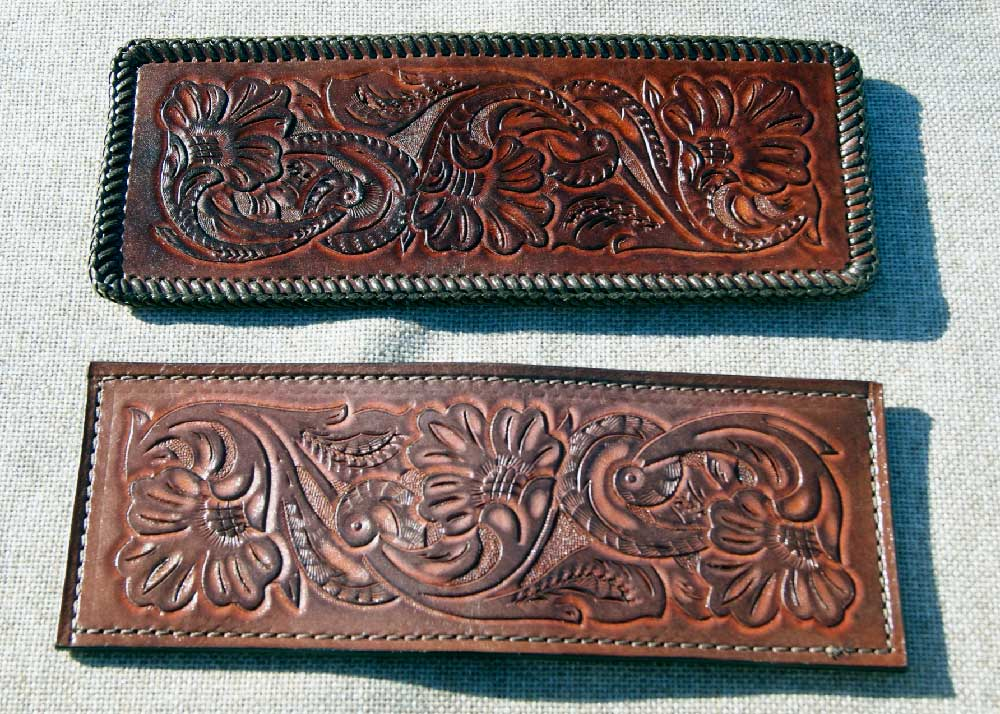 Hand Carved Leather Wallet Hand Tooled Leather Wallet 1000x714