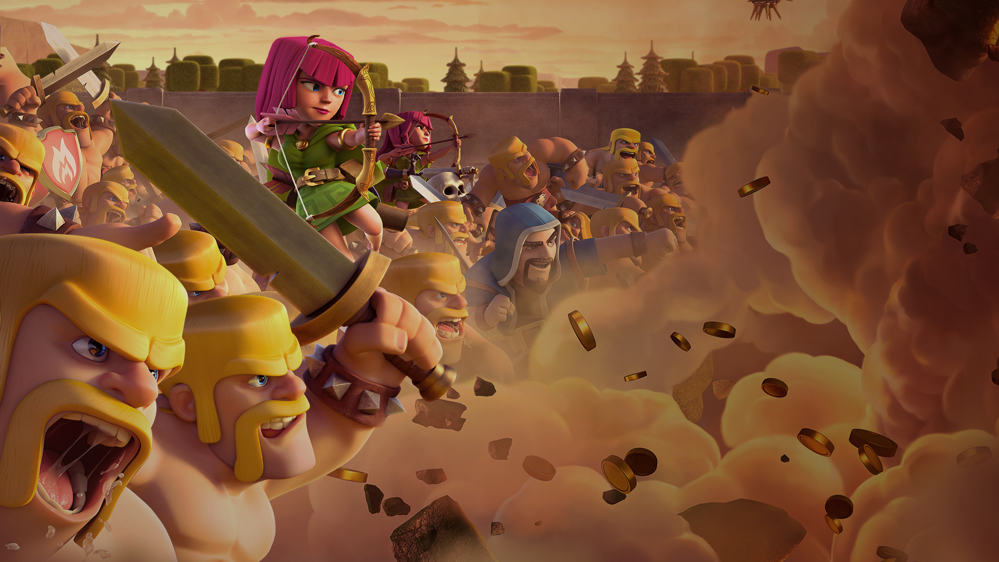 Clash Of Clans Wallpapers Pictures Images 2048x1152
