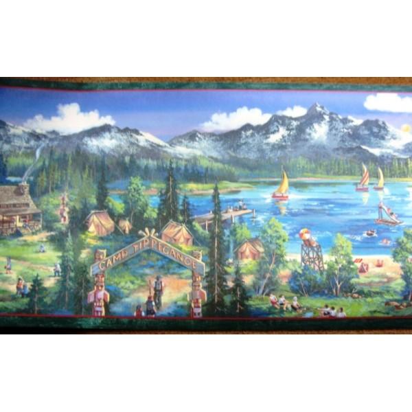 Summer Camp Border   Wallpaper Brokers Melbourne Australia 600x600