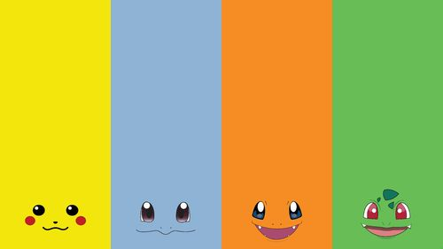 1366x768 Four Pokemon Faces wallpaper 500x281