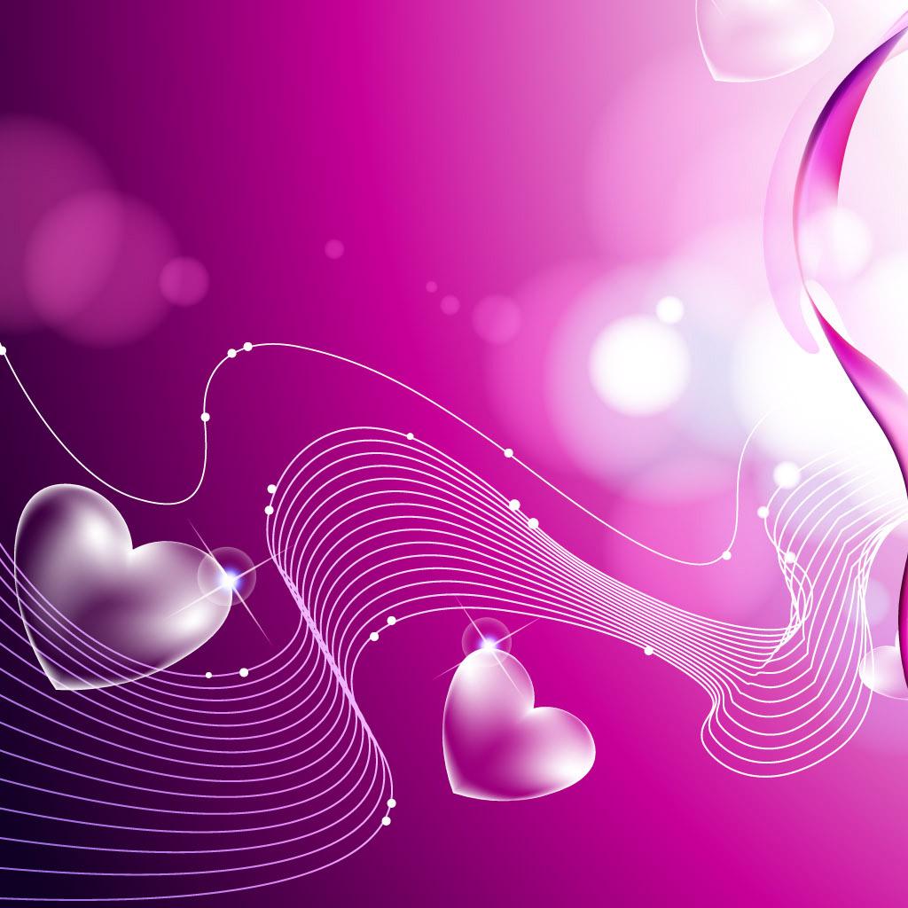 Purple heart shaped Wallpaper iPad Wallpapers iPad Backgrounds HD 1024x1024