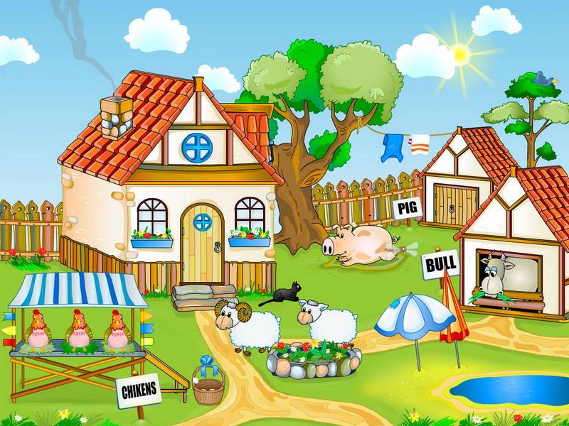 Nature Screensaver   Farm Yard   FullScreensaverscom 800x600