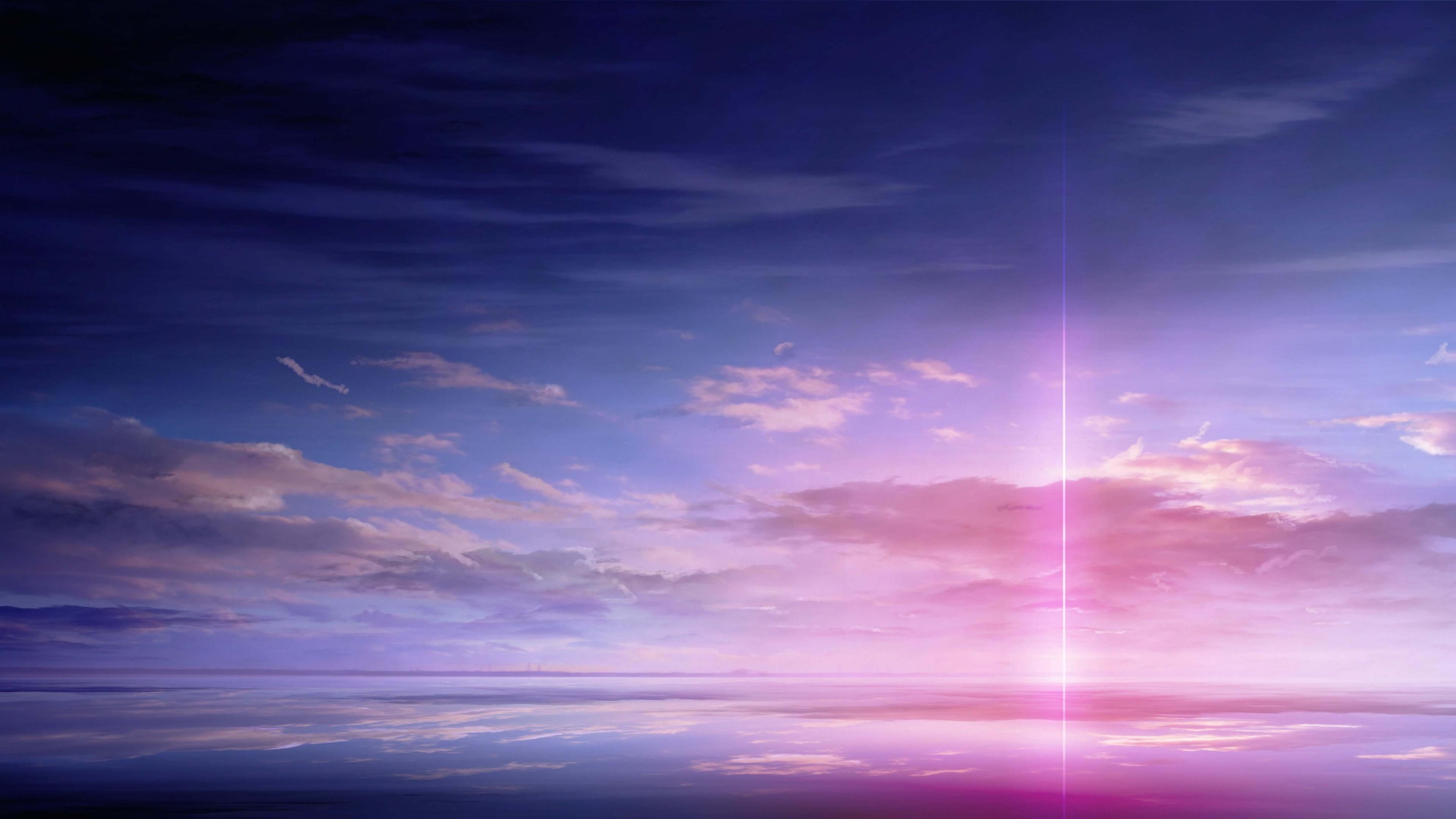 Purple Solar Pillar HD wallpaper for 4K 3840 x 2160   HDwallpapersnet 3840x2160