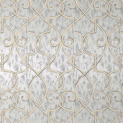 Lattice Wallpaper in Metallic Silver   Geometric Wallpaper   Wallpaper 500x500