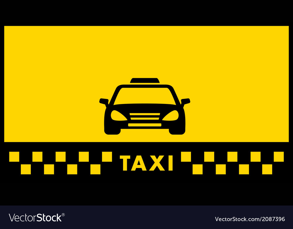 Yellow taxi background Royalty Vector Image 1000x780