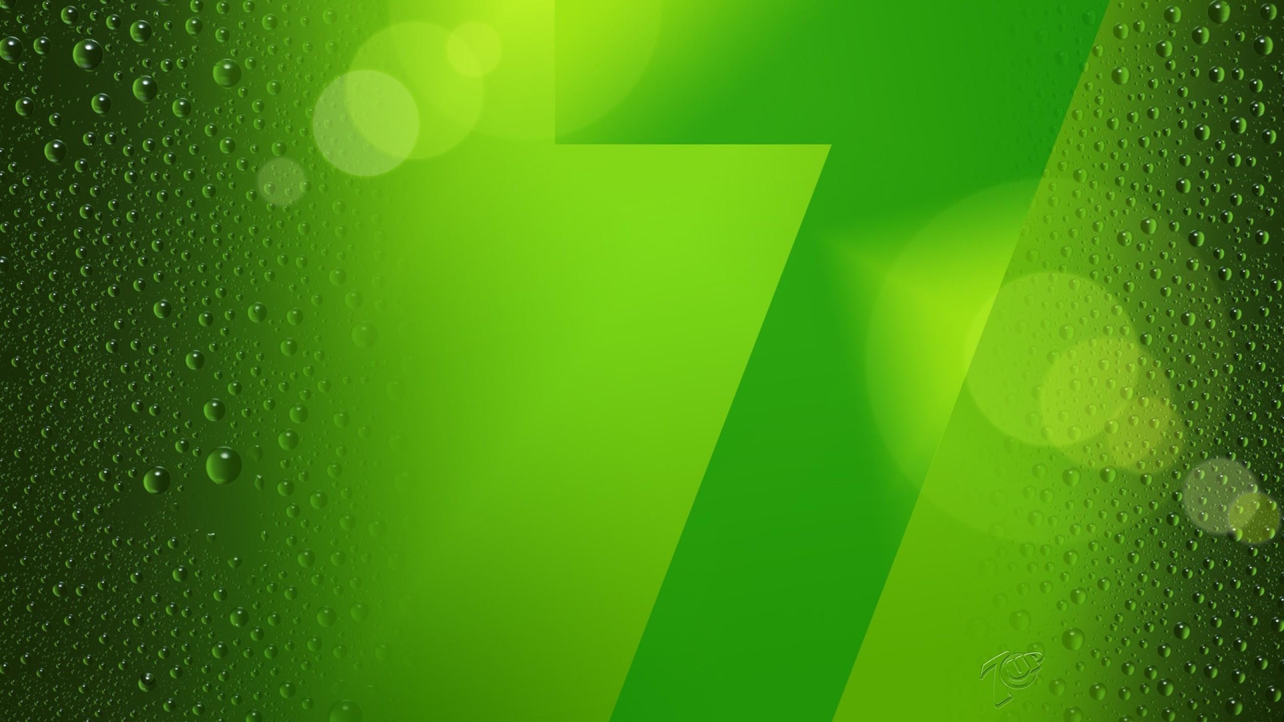 Windows 7 Green wallpaper   1371556 2560x1440