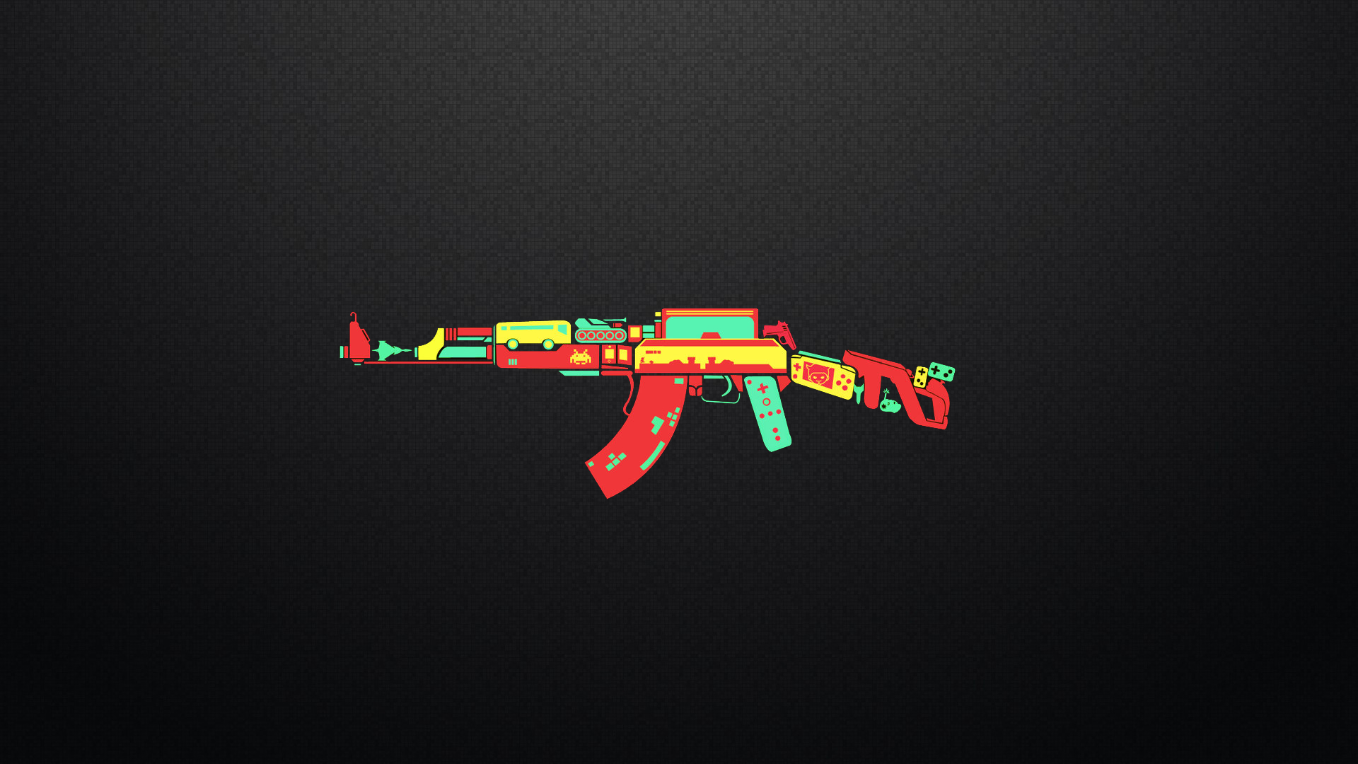 AK 47 controller game weapon funny humor wallpaper 1920x1080 1920x1080