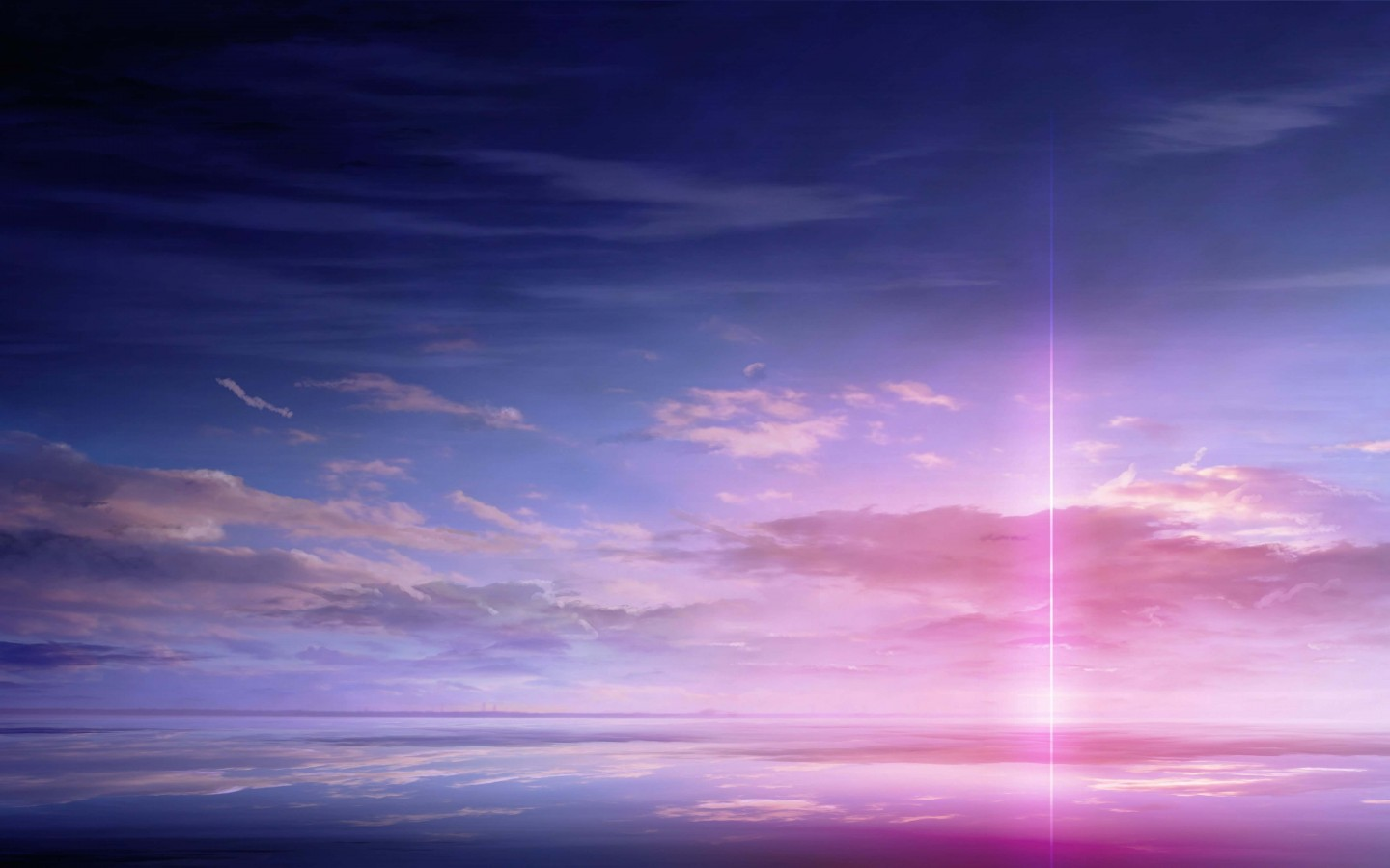 Purple Solar Pillar HD wallpaper for 1440 x 900   HDwallpapersnet 1440x900