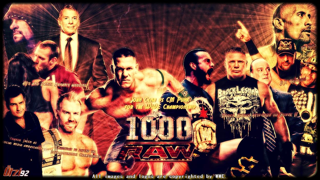 WWE Raw 1000th Episode Wallpaper   WWE on Wrestling Media 1248x702