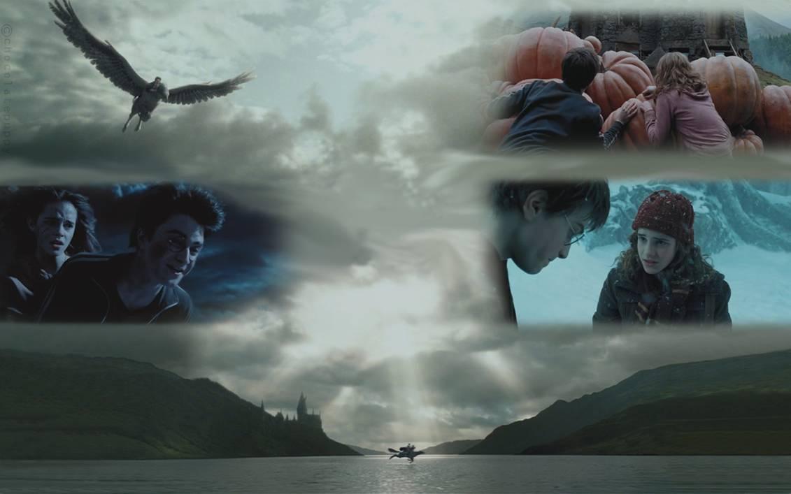 Harry Hermione and Buckbeak by chocolatepuppy 1131x707