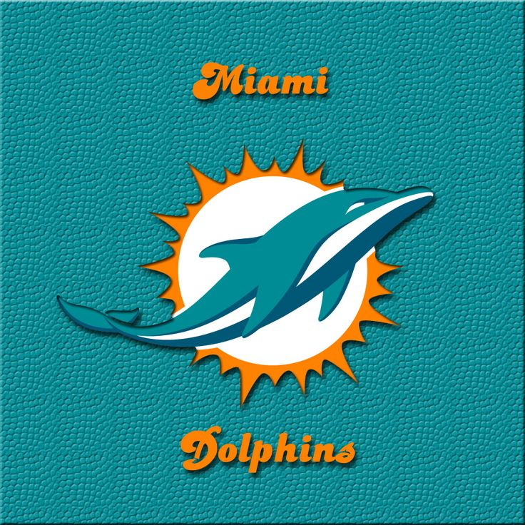 iPAD wallpaper New Miami Dolphins official logo Miami Dolphins 736x736