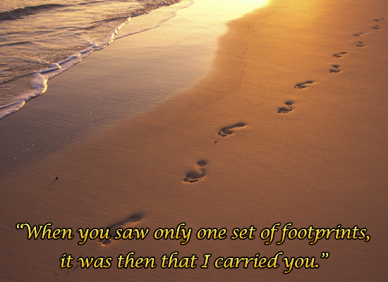 Footprints In The Sand Jpg Pictures to like or share on Facebook 550x400