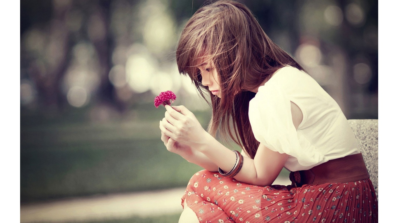 Sad Girls Wallpapers For Facebook Korean Girl Wallpaper Pictures 1366x768