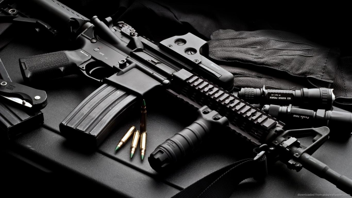 Colt Firearms Logo Wallpaper Check other guns backgrounds 1366x768