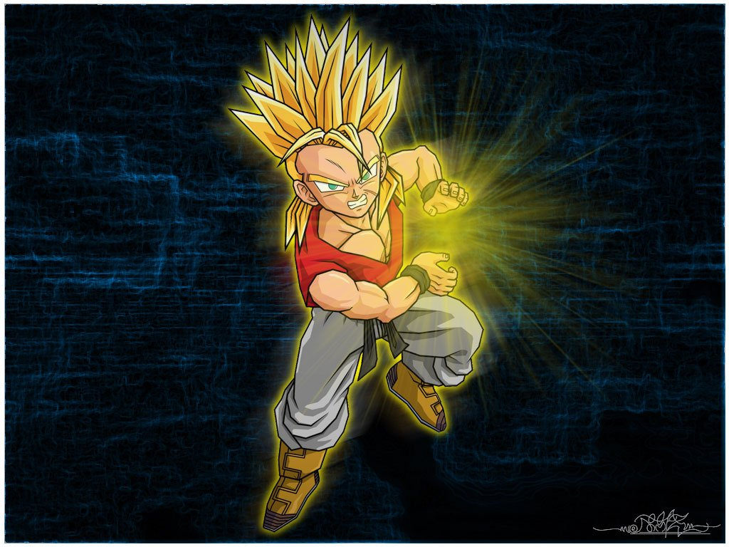Download DRAGON BALL Z WALLPAPERS Kid Trunks super saiyan 1 1024x768