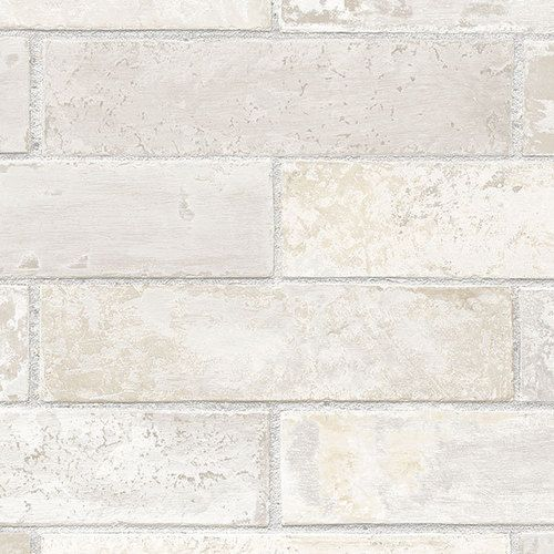 Stacked Brick Wall WallpaperVinyl Prepasted Washable Faux Ston 500x500