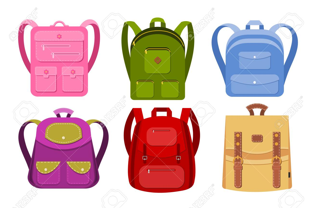 Color Image Of A Collection Of Backpacks On A White Background 1300x866