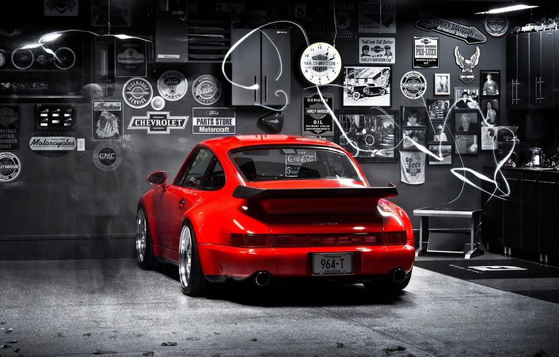 Wallpaper 911 turbo red porsche 964 images for desktop 1332x850