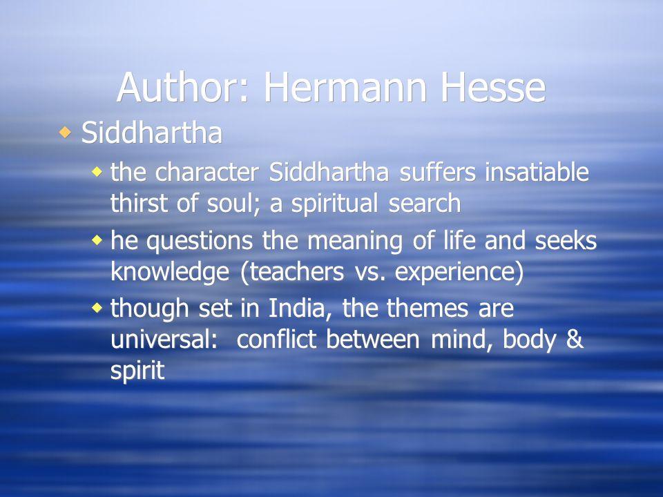 Siddhartha Background Info Author Hermann Hesse His Life 960x720