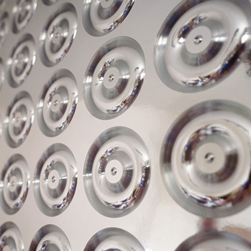 3D foils Beware the Moon Skulls Wallpaper Made in England 500x500