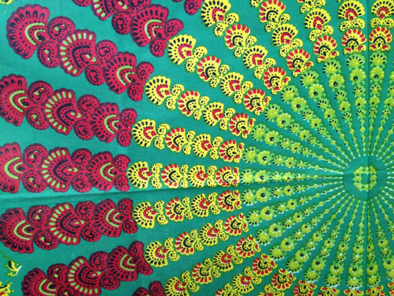 Bohemian Hippie Tapestry Fabric Colorful by SticksandStonesHemp1 570x428
