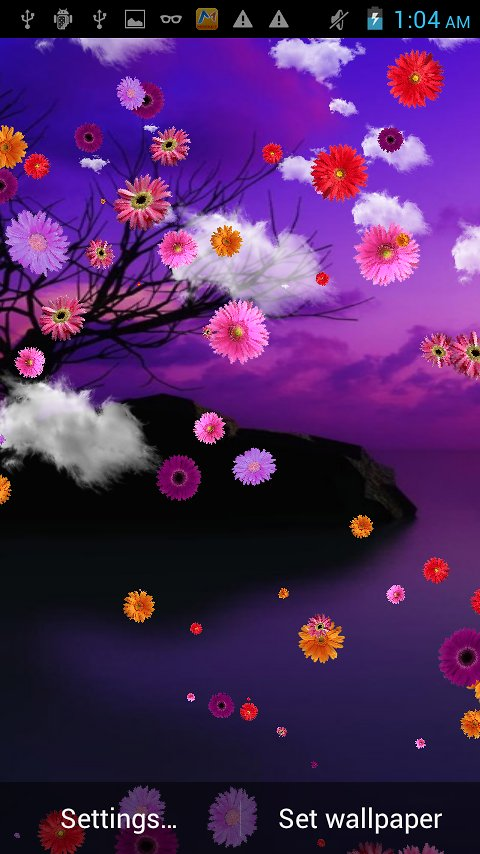 Flower Falling Live Wallpaper   Android Apps and Tests   AndroidPIT 480x854