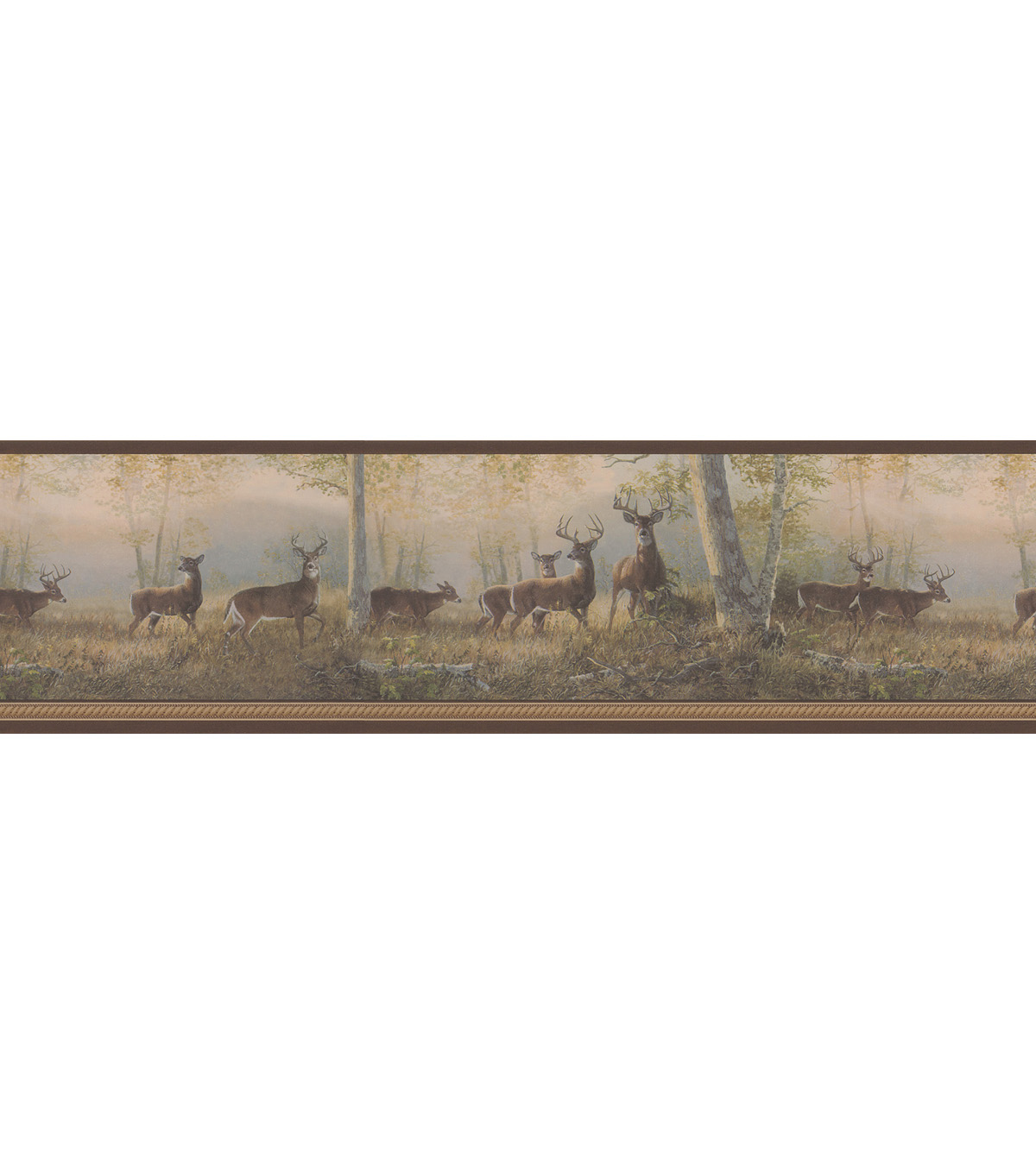 Running Brown Deer Wallpaper Border Jo Ann 1200x1360