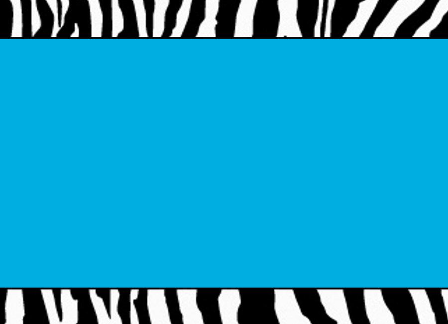 Blue Zebra Template by StacyO 900x651