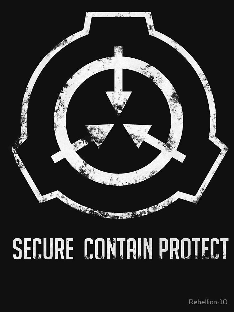 The Symbol Of The Scp Foundation   Secure Contain Protect 750x1000