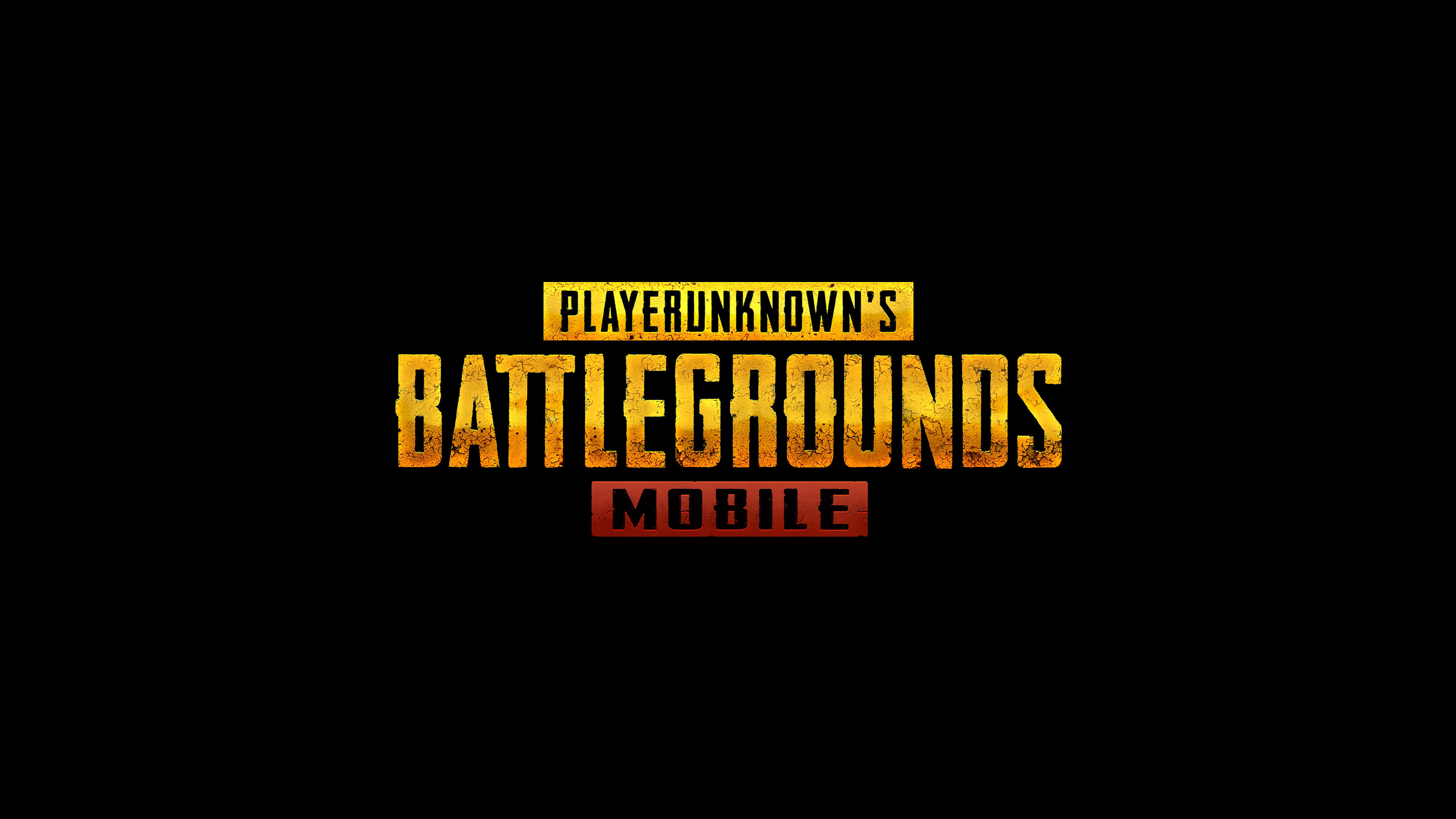PUBG Mobile Player Unknown Battlegrounds Mobile Logo UHD 4K 3840x2160