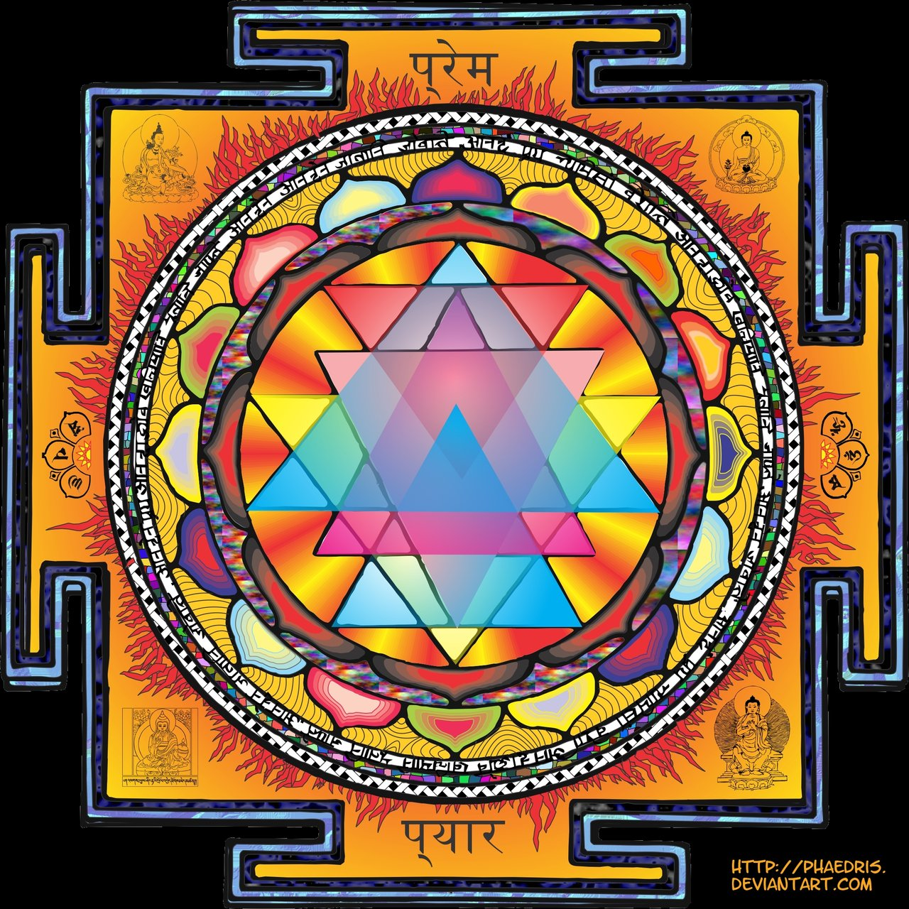 Free download sri yantra mandala by phaedris digital art