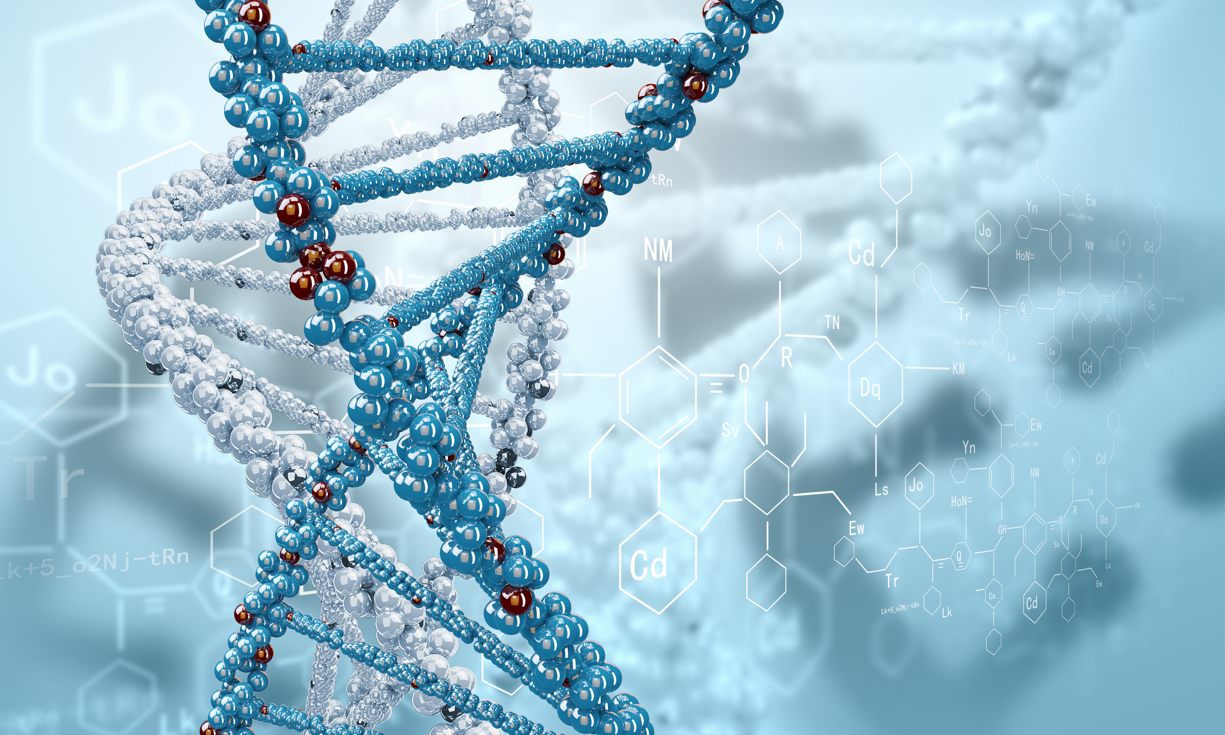 rendering the DNA of formula helix psychedelic d wallpaper background 4000x2400
