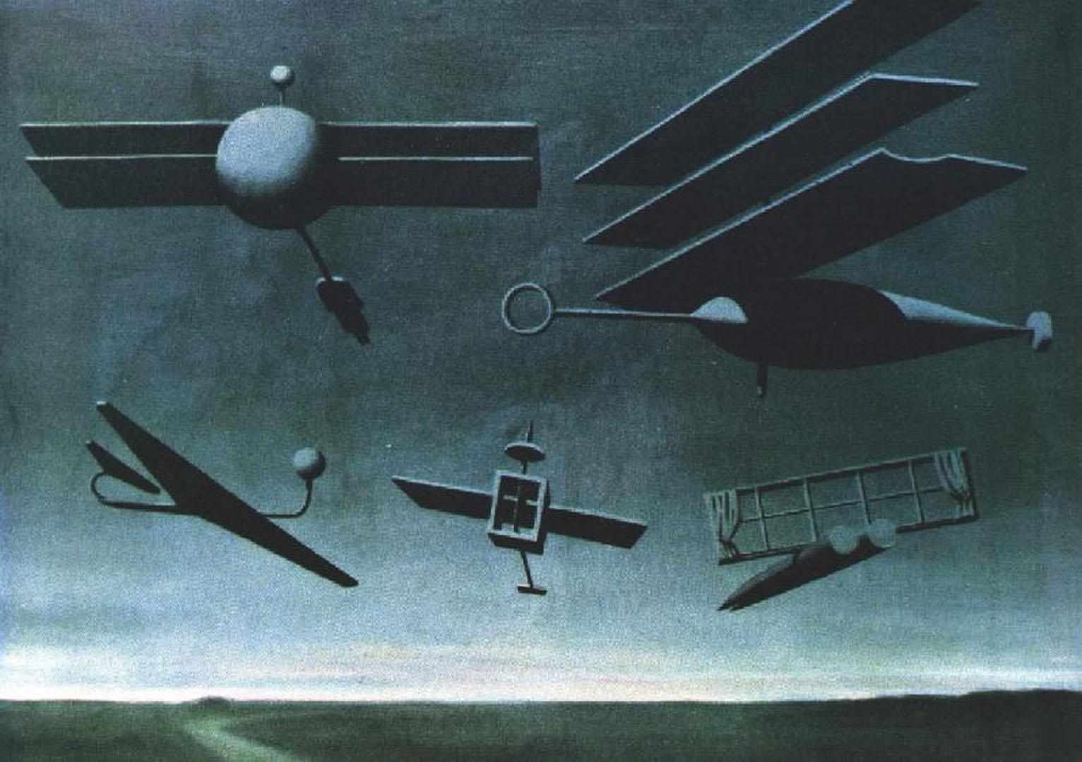 Black Flag   A surrealist rene magritte art wallpaper picture 1532x1080