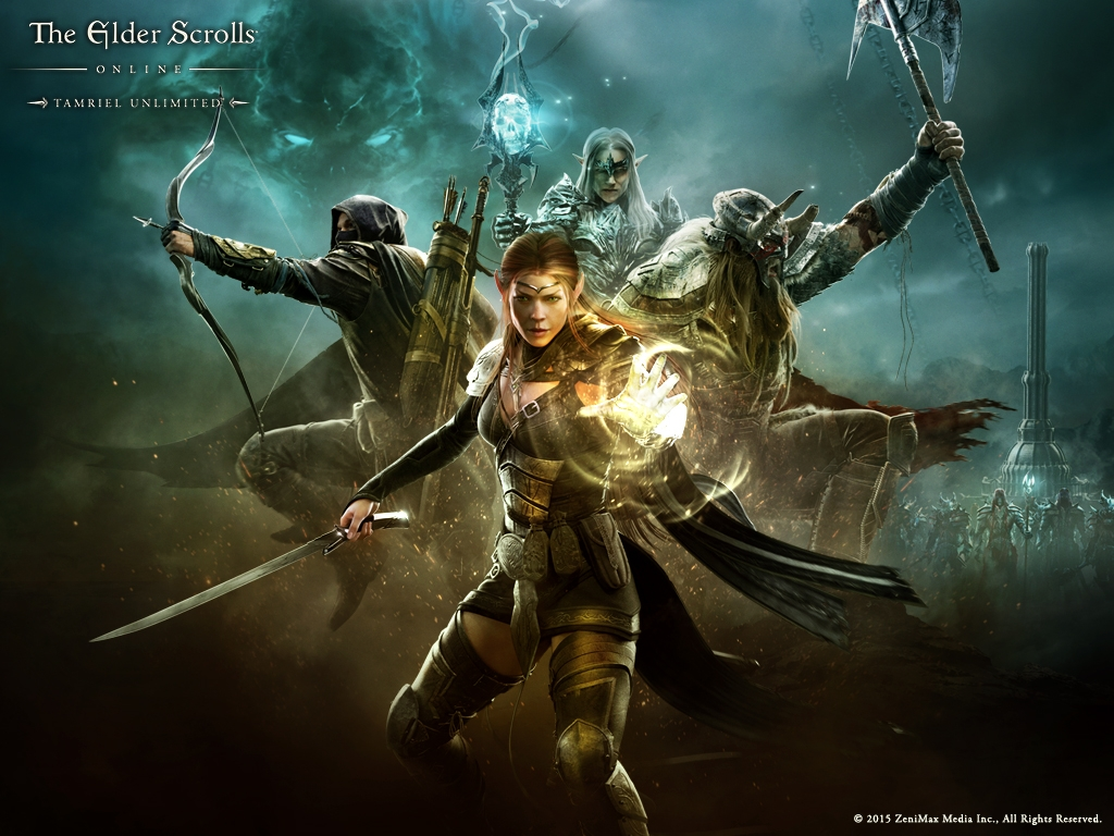 this new wallpaper to get your desktop ready for Tamriel Unlimited 1024x768