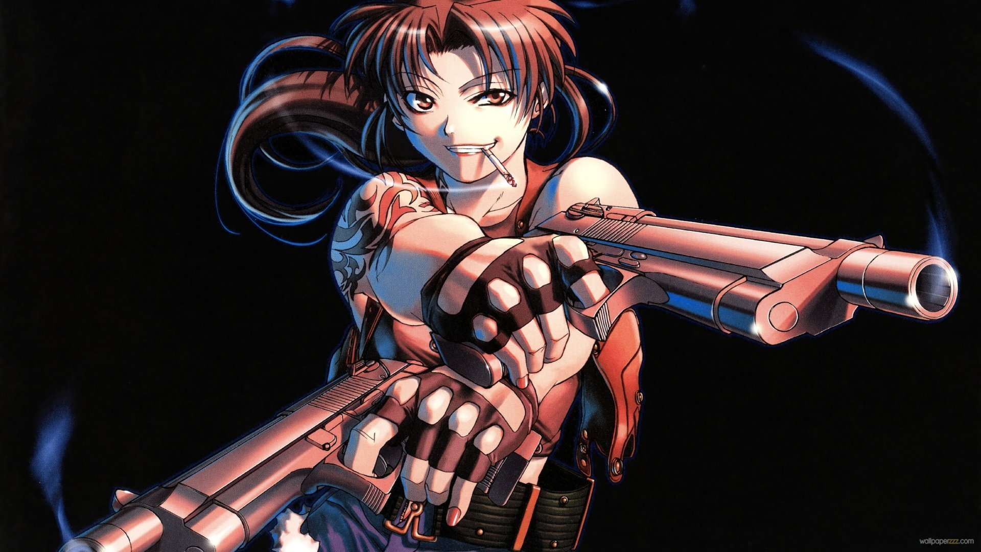 Download Black Lagoon Guns Hd Anime Wallpaper Full HD Wallpapers 1920x1080