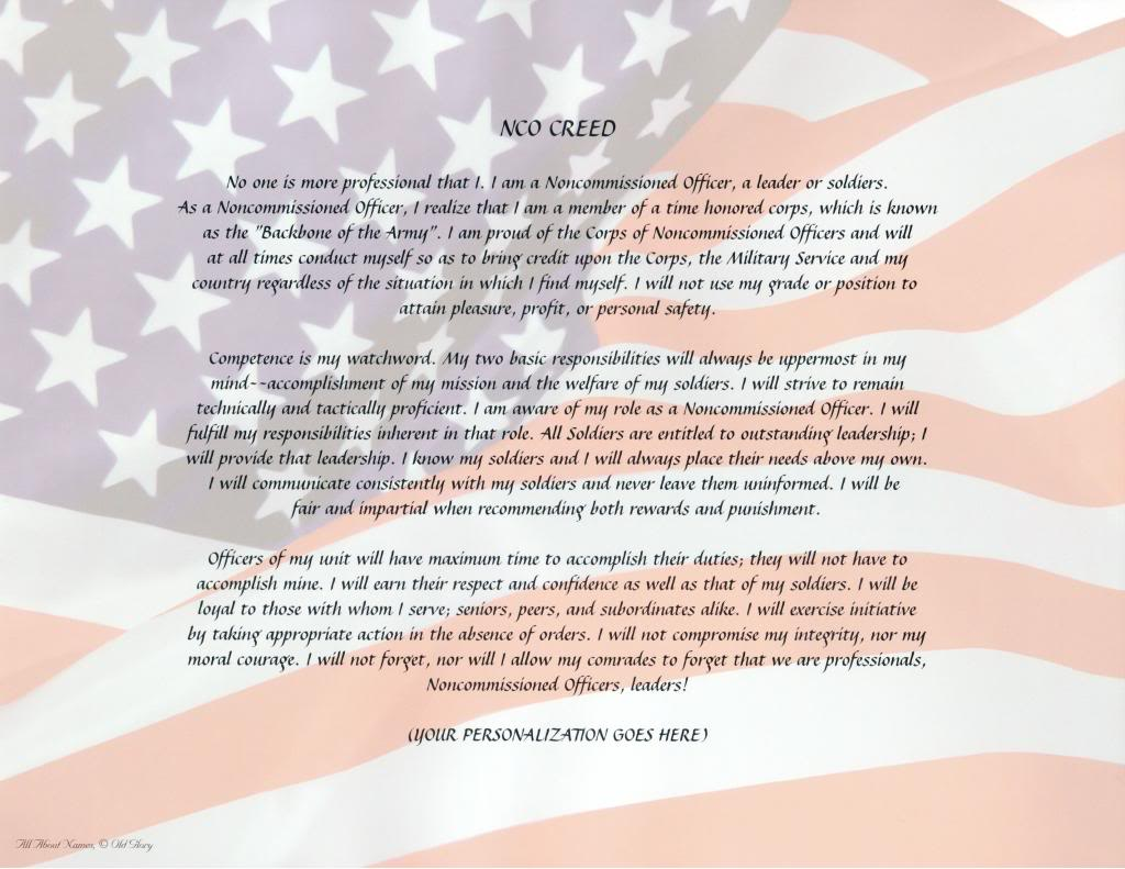 USMC NCO Creed Print Out 1024x791