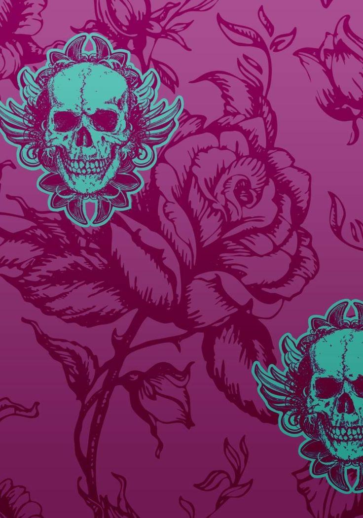 Girly Skull Iphone Wallpaper Download