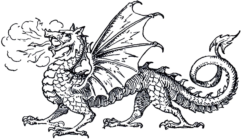 Dragon Clip Art   The Graphics Fairy 1500x864