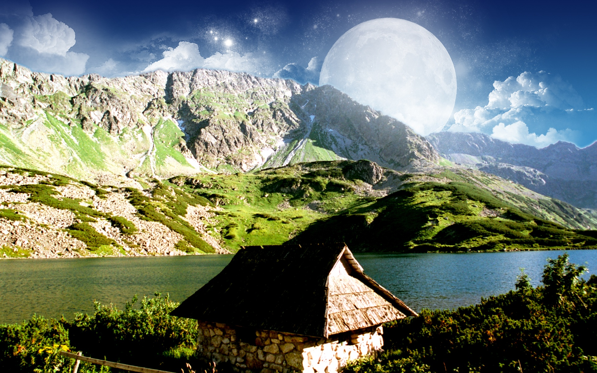 1920x1200 Dreamy Mountain desktop PC and Mac wallpaper 1920x1200
