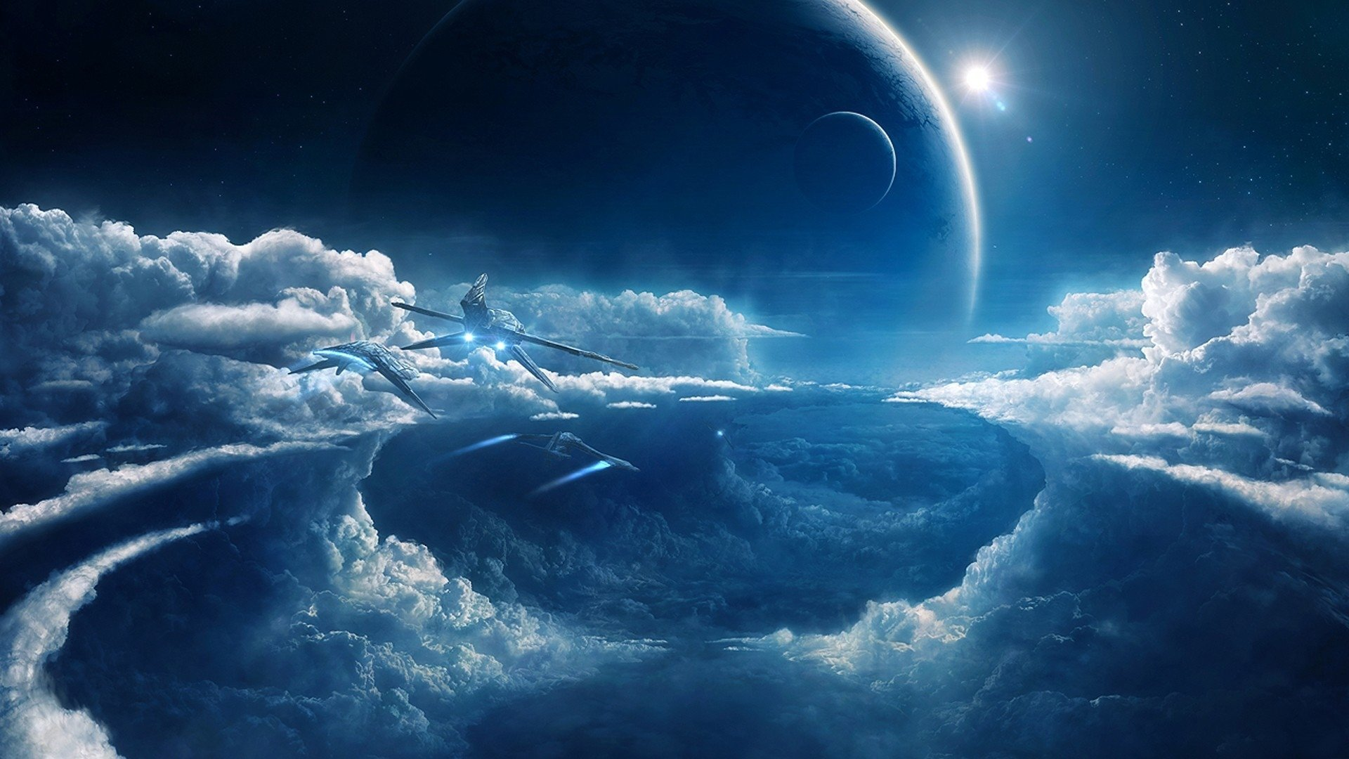 Download hd 1080p Sci Fi landscape PC background ID232803 for 1920x1080
